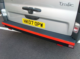 Renault Traffic rear Safe T Bar Heavy Duty Bumper.