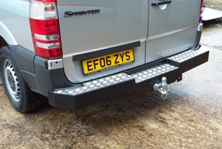 Mercedes Sprinter & Volkswagon Crafter Heavy Duty Rear Bumper Towing Step.