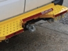 Safe T Bar Heavy Duty Rear Bumper Towing Steps. With Safe Step Fitted.