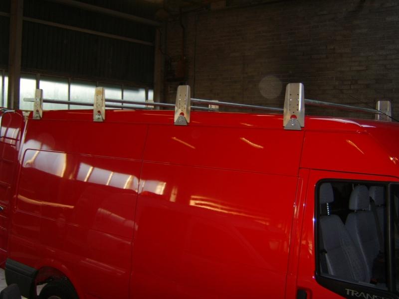 Ford Transit Long Wheel Base Med Roof 5 Bar Style Roof Rack