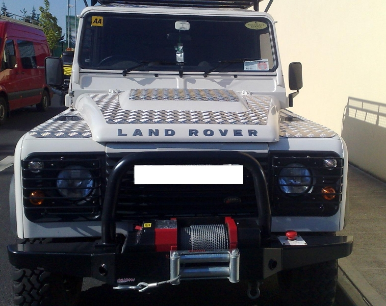 Land Rover Defender 90 and 110 Front Winch.