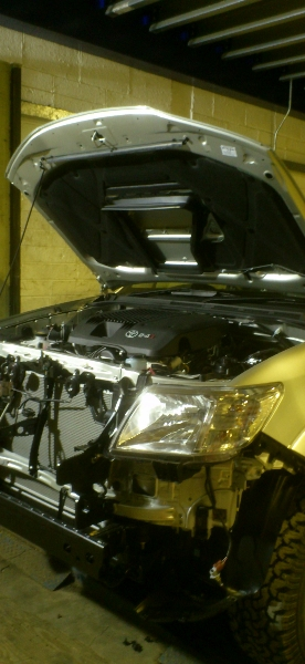Toyota Hilux Winch Fitting. Bumper Removal.