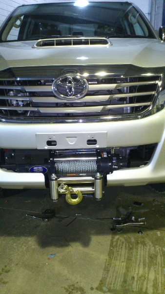 Toyota Hilux Winch Fitted.